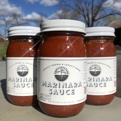 Simple Gifts Farm Tomato Marinara Sauce