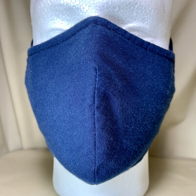 Navy Blue Face Covering - Large - Non-Medical