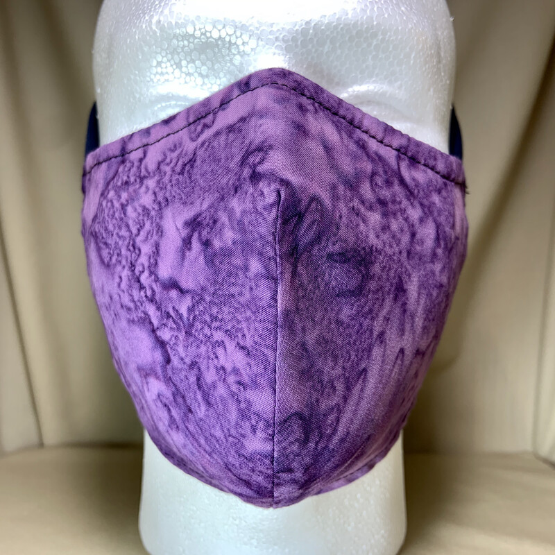Purple Tie-Dye Face Covering - Adult - Non-Medical