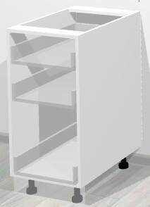 Кухонный корпус нижний с тремя ящиками