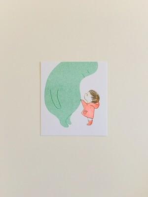 When Sadness Comes to Call / Cover Image - Small Risograph Print x 2