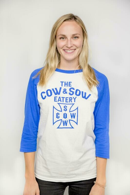 Cow and Sow Unisex 3/4 Raglan