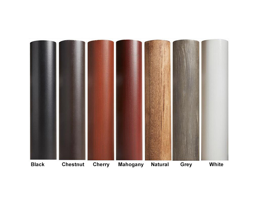 smooth wooden finish drapery curtain rod