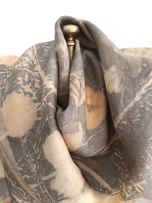 SCS 6 Classic Square eco printed silk scarf