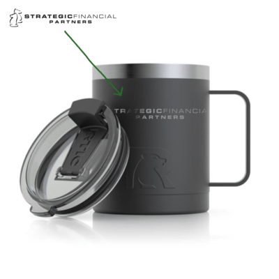 Branded 12oz RTIC Coffee Mug - Black