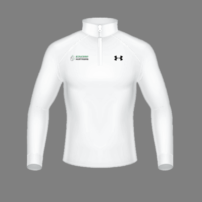 Branded Under Armour 1/2 Zip-Up - White