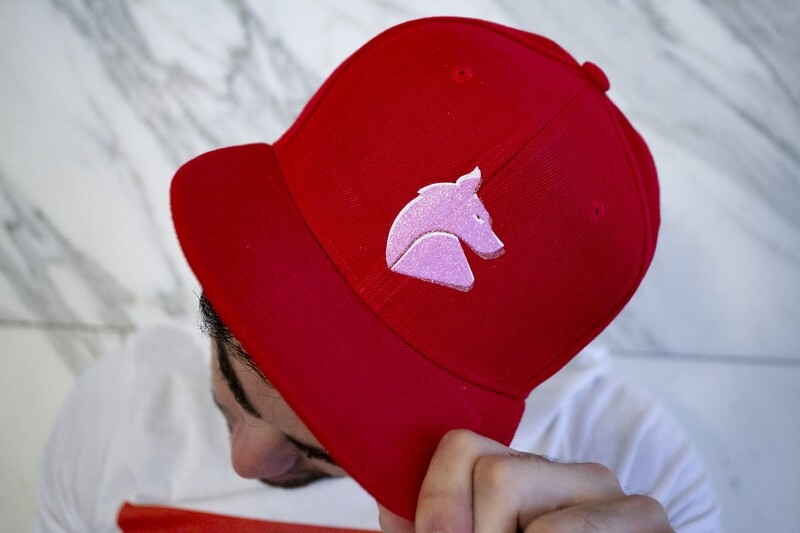 Carnal Media Hat in Red Snapback