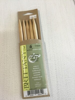Brittany Birch Double Pointed Knitting Needles US Size 13
