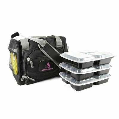 Black Motivational Meal Prep Bag®