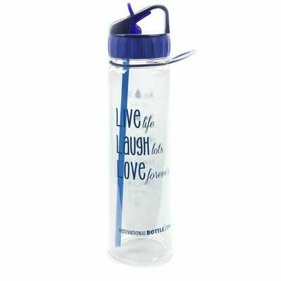 Blue Live Love Laugh Straw®