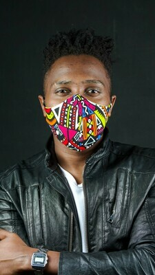 Tribal Ankara 3 Ply Mask :: donation pack