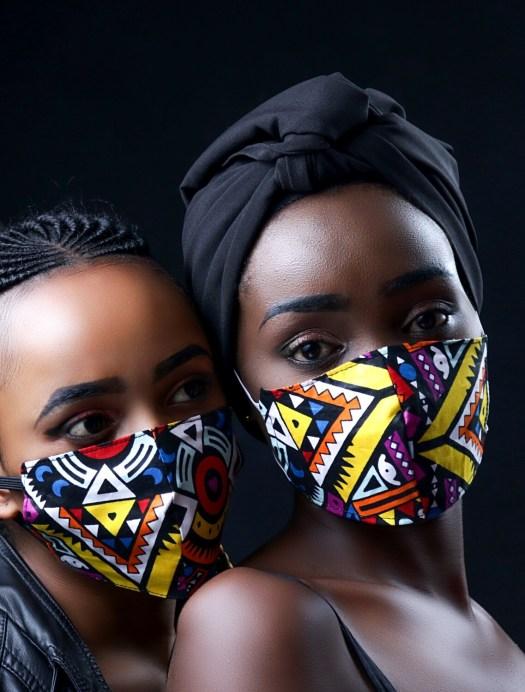 Tribal Ladies Ankara Mask