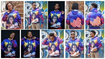 Michelle Obama Sublimation Hoodie