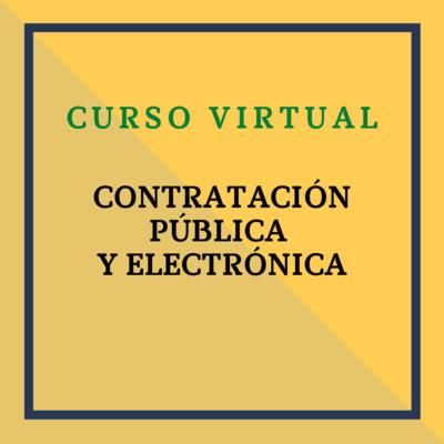 Contratación Pública y Electrónica. 1, 2 y 3 de marzo de 2021