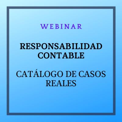 Webinar: La responsabilidad contable: catálogo de casos reales. 30 de marzo de 2021