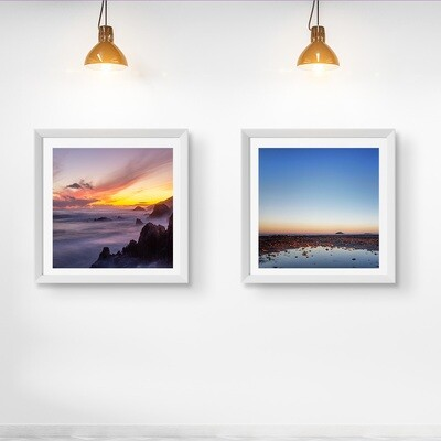 Set of ANY two Framed Prints (single mount only)