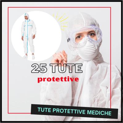 25 Tute protettive mediche tipo 3 - taglia M