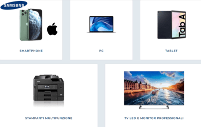 Noleggio Smartphone-Tablet-Stampanti-Samsung-Iphone