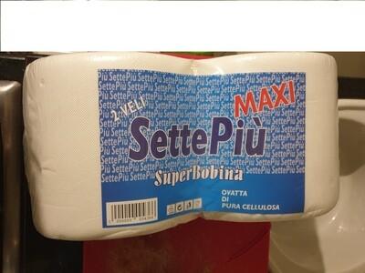 2 Super Bobine Carta Settepiù Maxi - 800 Strappi