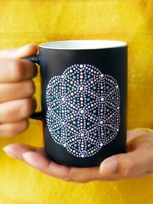 Ceramic Mug - Matt Black and Green