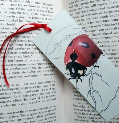 Bookmark - Illustrated Art - Ladybird