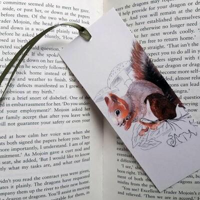 Bookmark - Illustrated Art - Squirrel