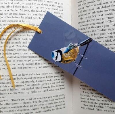 Bookmark - Illustrated Art - Blue Tit