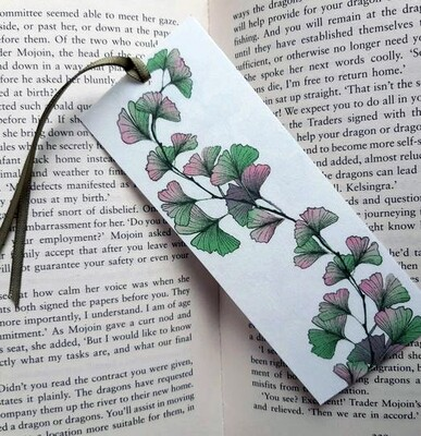 Bookmark - Illustrated Art - Ginkgo