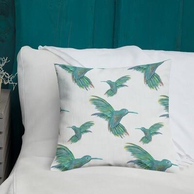 Throw Pillow - Humming Birds