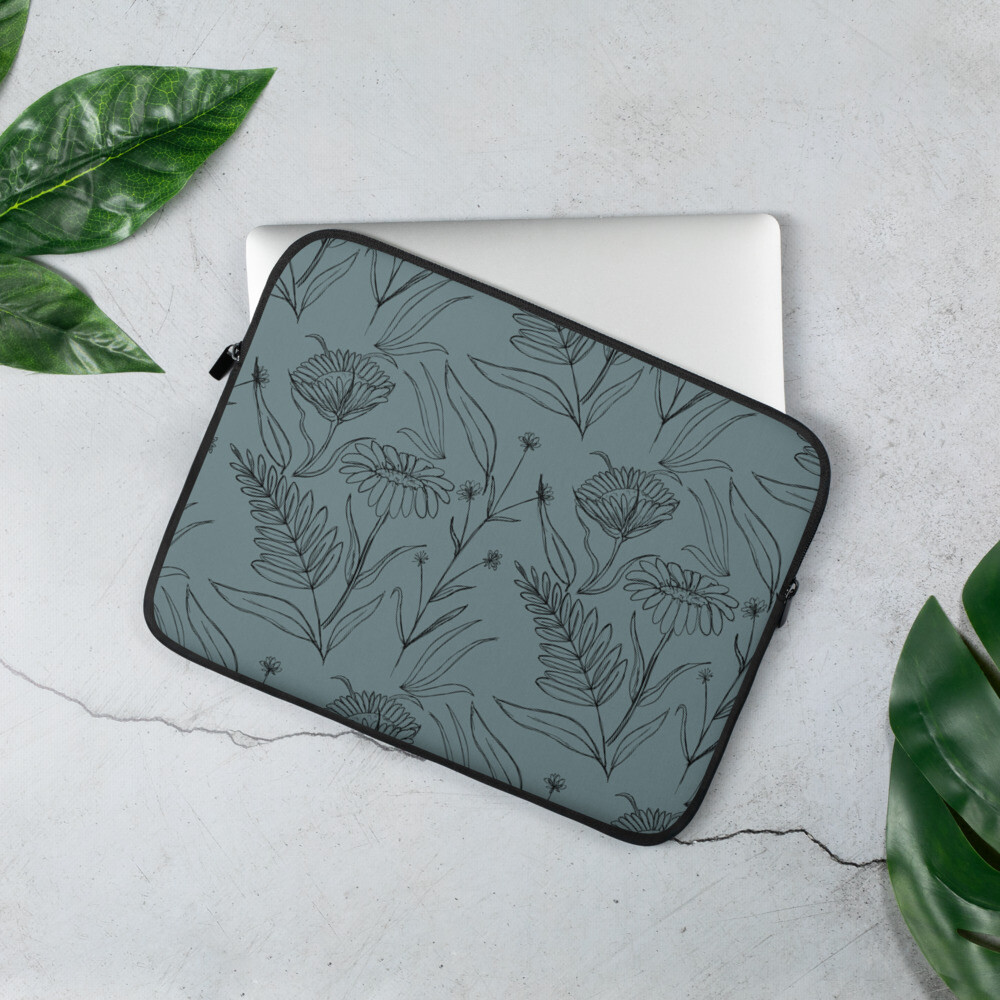 Laptop Sleeve - Sketchy Flowers