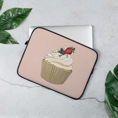 Laptop Sleeve - Summer Berries Cupcake