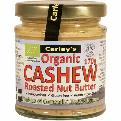 Carley's Organic Roasted Cashew Butter 170g