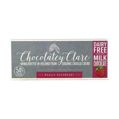 Chocolatey Clare Vegan Chocolate Really Raspberry 40g