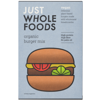 Just Wholefoods Organic Vegan Burger Mix 125g