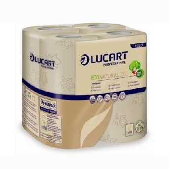 Lucart Eco Natural Toilet Paper 8 Rolls