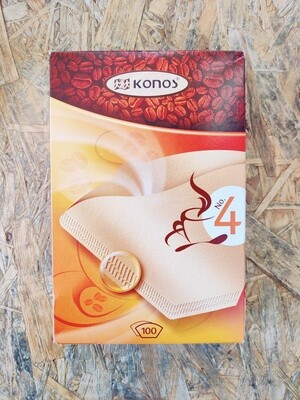 Konos Coffee Filters Size 4 - 100 pieces
