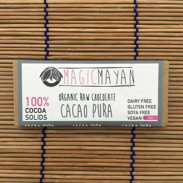 Magic Mayan Raw Organic Vegan Chocolate: Cacao Pura 50g