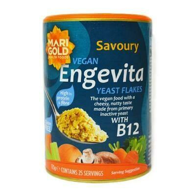 Marigold Engevita Yeast Flakes & B12 (Nutritional Yeast) 125g