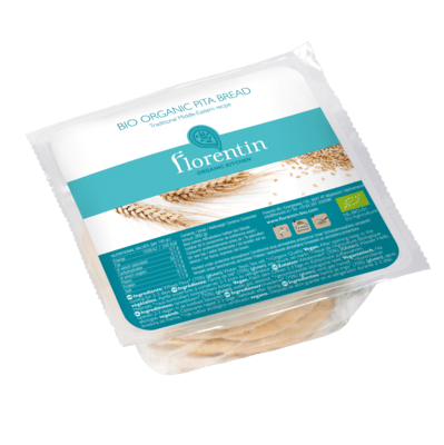 Florentin Organic Kitchen Organic White Pita Bread 4 Pieces