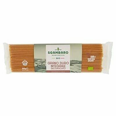Sgambaro Organic Whole Wheat Spaghetti No.5 500g