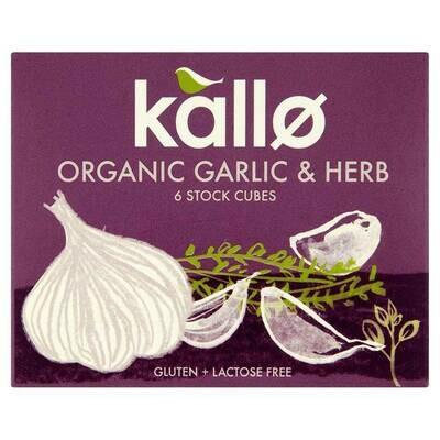Kallo Organic Garlic & Herb Stock 66g
