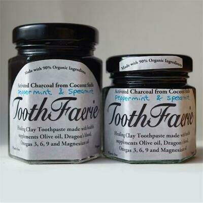 ToothFaerie Activated Charcoal Peppermint and Spearmint 85ml
