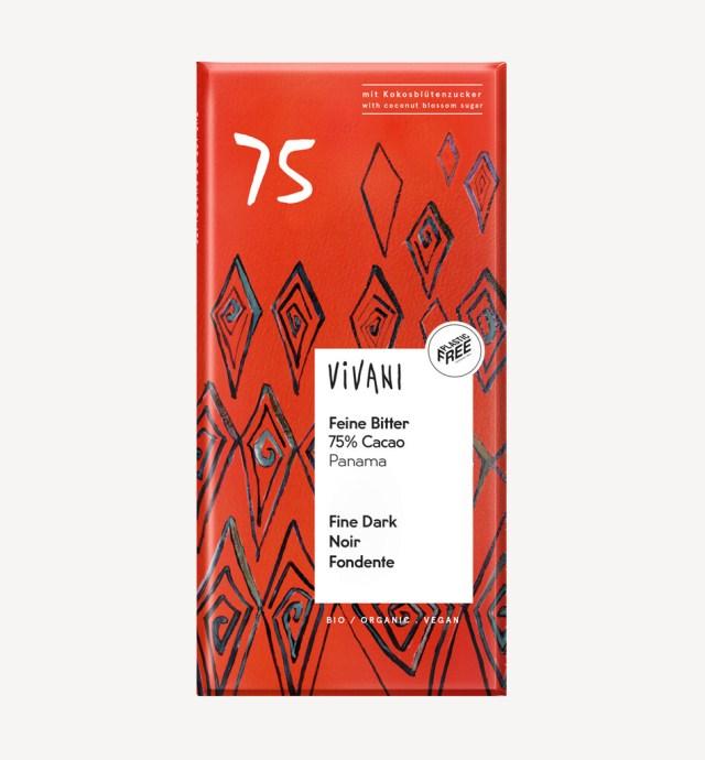 Vivani 75℅ Organic Dark Chocolate 80g