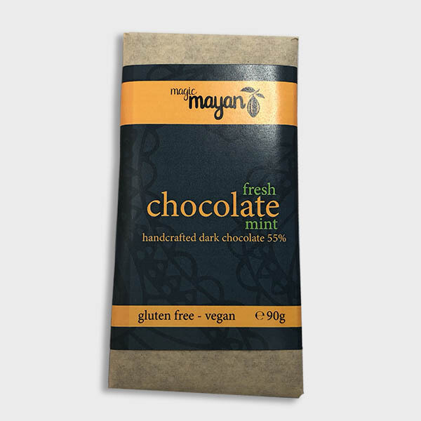 Magic Mayan Raw Organic Vegan Chocolate : Fresh Mint 55% 90g