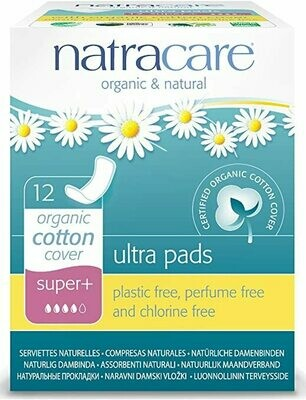 Natracare Ultapads Super No Wings 12