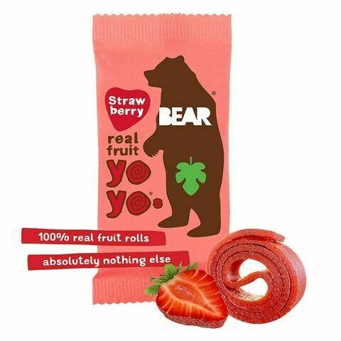 BearNibbles Strawberry Fruit Rolls 20g