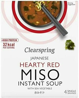 Clearspring Hearty Red Instant Miso Soup 40g