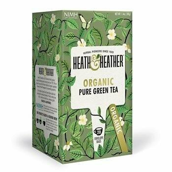 Heath & Heather Organic Pure Green Tea 20 Bags