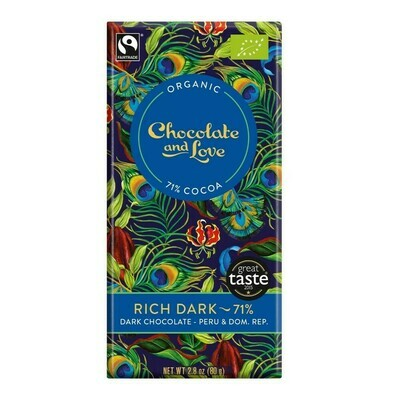 Chocolate & Love Organic Rich Dark Chocolate 71% Cocoa 80g