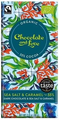 Chocolate & Love Sea Salt & Caramel 55% Cocoa 80g
